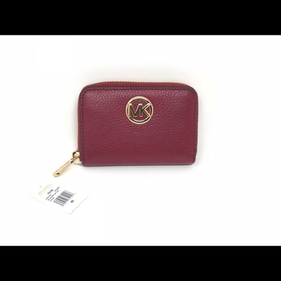 fe4973c99a9a3b Michael Kors Bags | Fulton Top Zip Coin Case Mini Wallet | Poshmark